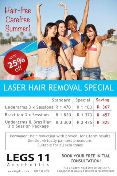 Laser hair removal - Hair free care free